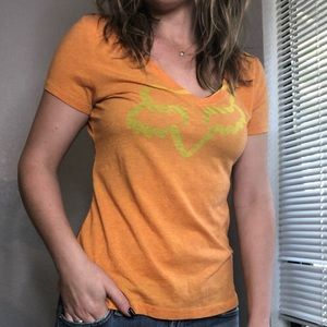 Women's Fox TShirt VNeck